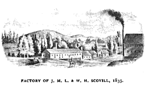 Factory of J.M.L. and W.H. Scovill 1835
